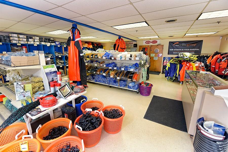 Fishing gear retail store